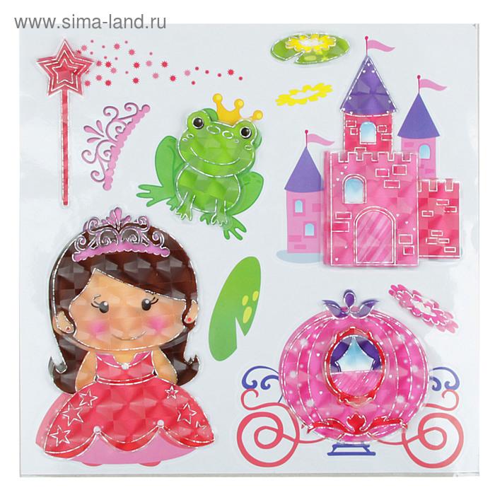 """Наклейка 3D """"Принцессы /девочки"""" МИКС"""