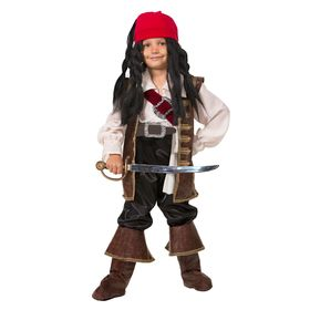 Детский карнавальный костюм 'Капитан Джек Воробей', 9 предметов, рост 158 см Ош