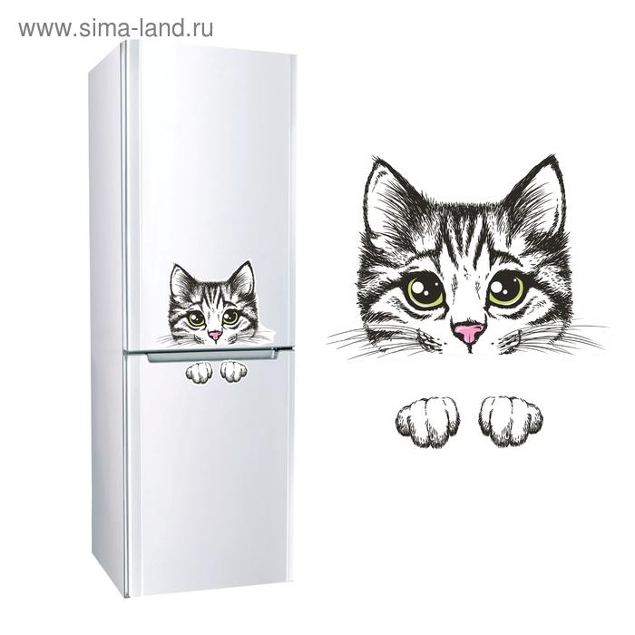 """Наклейка для холодильника """"Кошка"""""""