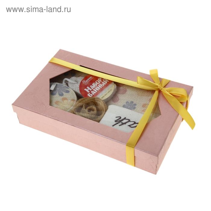 Набор банный подарочный, 5 предметов: 4 мочалки, пемза