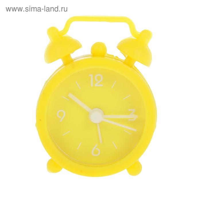 """Будильник мини """"Пробуждение"""", цвет желтый"""