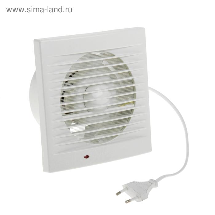 Вентилятор осевой d120 mm, (220 В, 15 Вт, 180 м3/ч, 34 Ра ) с сетевым кабелем