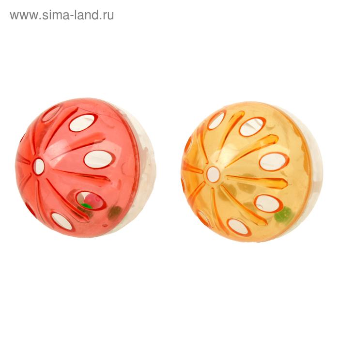 Набор из 2 полупрозрачных шариков-погремушек d=4 см, микс