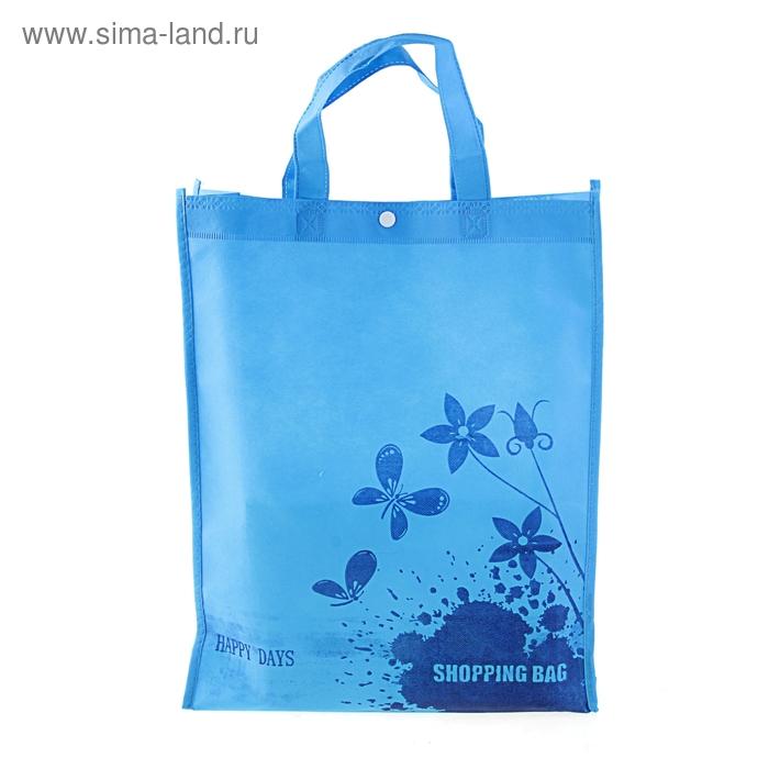 Сумка хозяйственная Shopping bag, цвет голубой