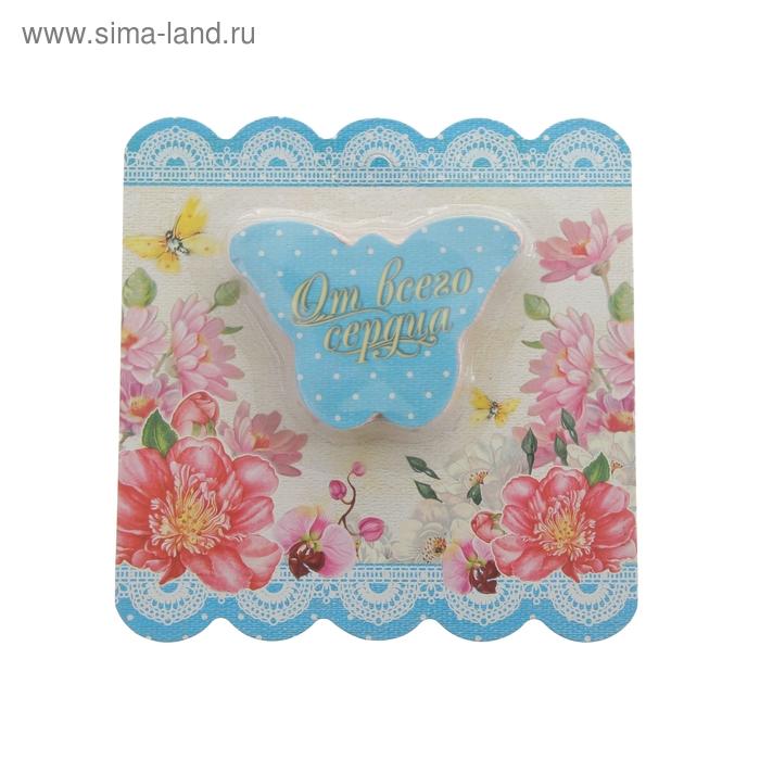 """Прессованное полотенце на открытке """"Collorista"""" От всего сердца 26х50 см, хлопок"""