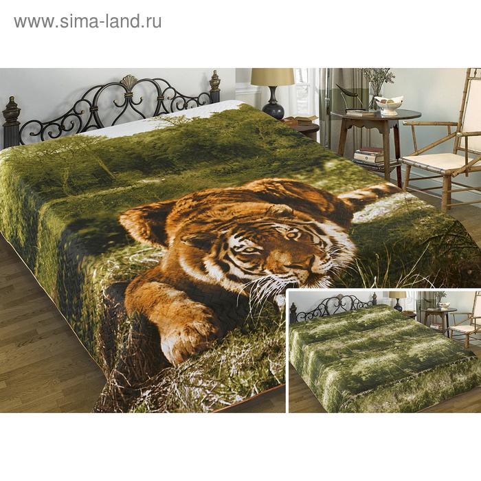"Покрывало двустороннее Marianna Lord ""Тигр"", размер 200х220 см, 100% полиэстер"