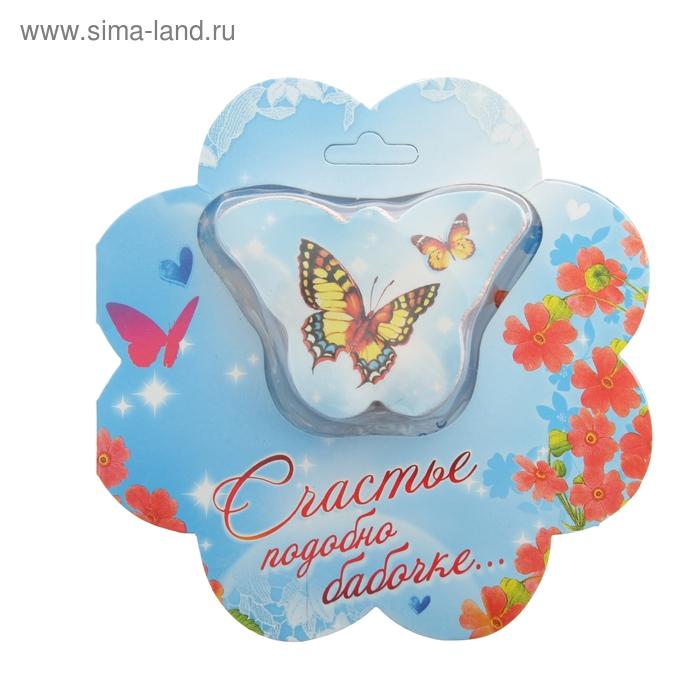 """Прессованное полотенце на открытке """"Collorista"""" Счастье 26х50 см, хлопок"""