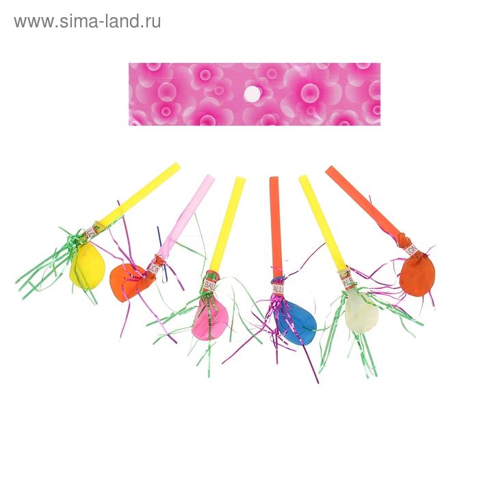Язычок шарики с дождиком, издает звук, набор 24 штуки, цвета МИКС