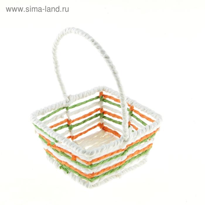 """Корзинка декоративная """"Радуга"""" квадратная"""