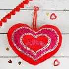 """Мягкая игрушка-присоска """"Сердце"""" в сердце надпись"""