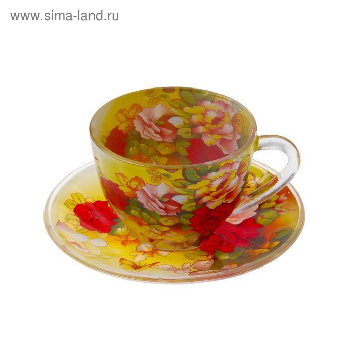 """Набор чайный """"Май"""", 2 предмета: чашка 220 мл, блюдце"""