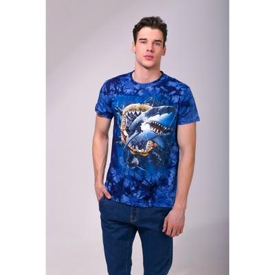 Футболка мужская Collorista 3D Shark pack, размер XL (50), цвет синий