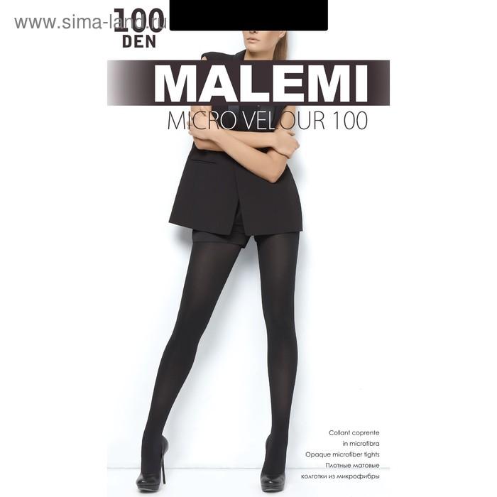 Колготки женские MALEMI Micro Velour 100 (nero, 2)