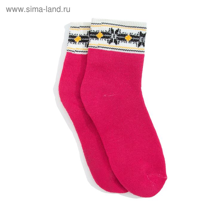 """Носки женские махровые """"Снежинка"""", размер 23-25 (размер обуви 36-39), цвет МИКС"""