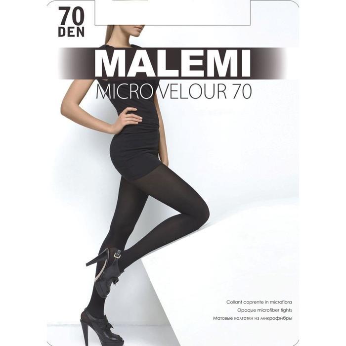 Колготки женские MALEMI Micro Velour 70 (chocolate, 2)