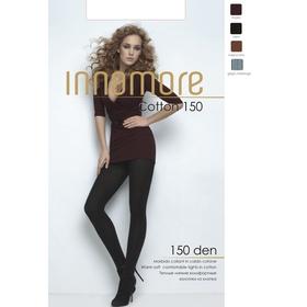 Колготки женские INNAMORE Cotton 150 цвет чёрный (nero), р-р 2)