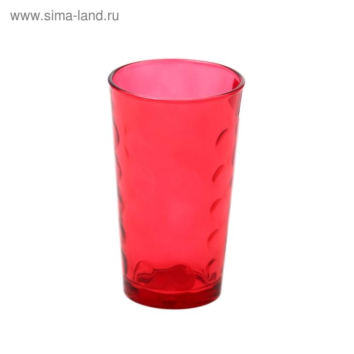 """Стакан стеклянный 340 мл """"Маскарад"""", цвет красный"""