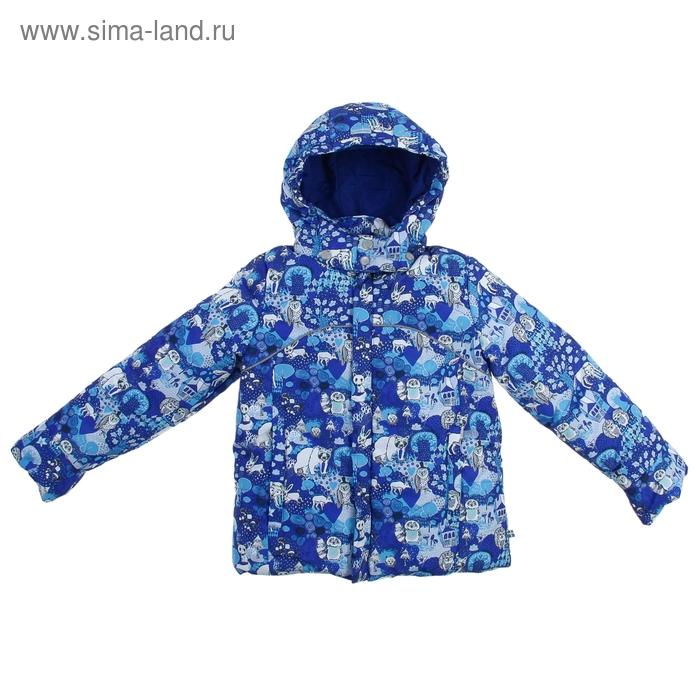 Куртка с пуховой подстёжкой для мальчика, рост 128 см, цвет синий