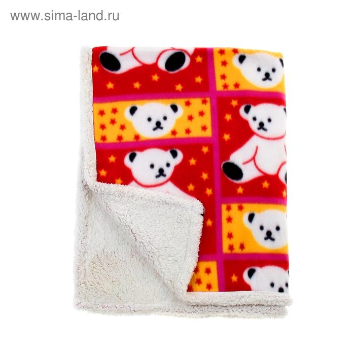 """Детский плед - одеяло Этелька """"Любимец"""" 75х100 см, 100% п/э, флис, микрофибра"""