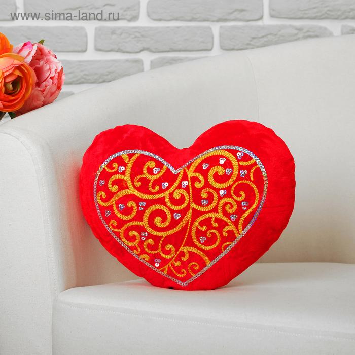 """Мягкая игрушка """"Сердце с узором"""", цвета МИКС"""