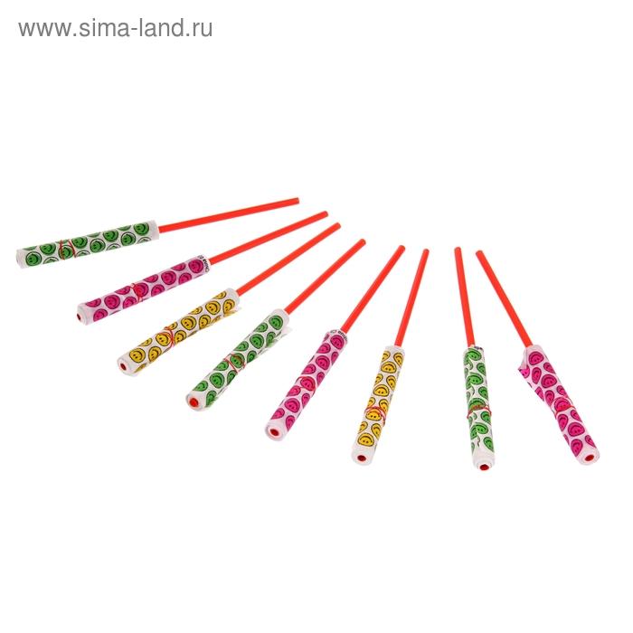 "Серпантин на палочке ""Смайлы"", цвета МИКС"