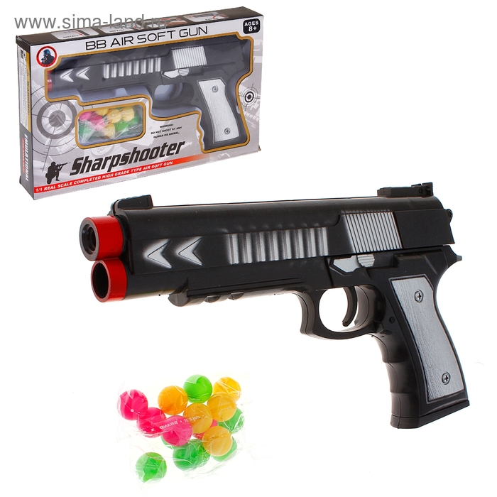 """Пистолет """"Крутой стрелок"""", стреляет мягкими шариками"""