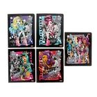 """Тетрадь 18 листов клетка """"Школа Монстров (Monster High)"""", картонная обложка, с блестками, 5 видов МИКС"""