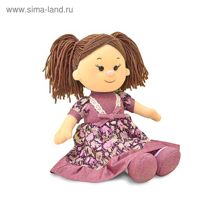 Мягкая игрушка «Кукла Карина в бордовом платье» музыкальная