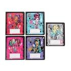 """Тетрадь 12 листов клетка """"Школа Монстров (Monster High)"""", картонная обложка, с блестками, 5 видов МИКС"""