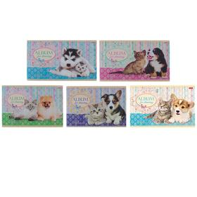 Альбом для рисования А4, 40 листов на скрепке 'Маленькие друзья', обложка картон 185г/м2, блок офсет 100 г/м2, 5 видов МИКС Ош
