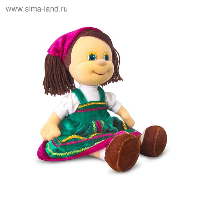 Мягкая игрушка «Кукла Алёнушка в русском сарафане» музыкальная