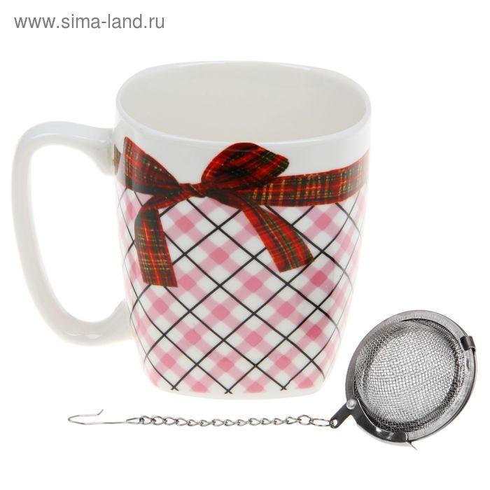 """Кружка с ситом 300 мл """"Подарок"""", цвет МИКС"""