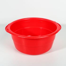 Таз пластиковый 8 л, особо прочный, цвет МИКС