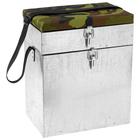 Ящик зимний оцинкованный двухсекционный ДМ, 22 л