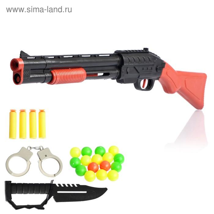 """Набор полицейского """"Смотритель"""", стреляет мягкими пулями и шариками"""