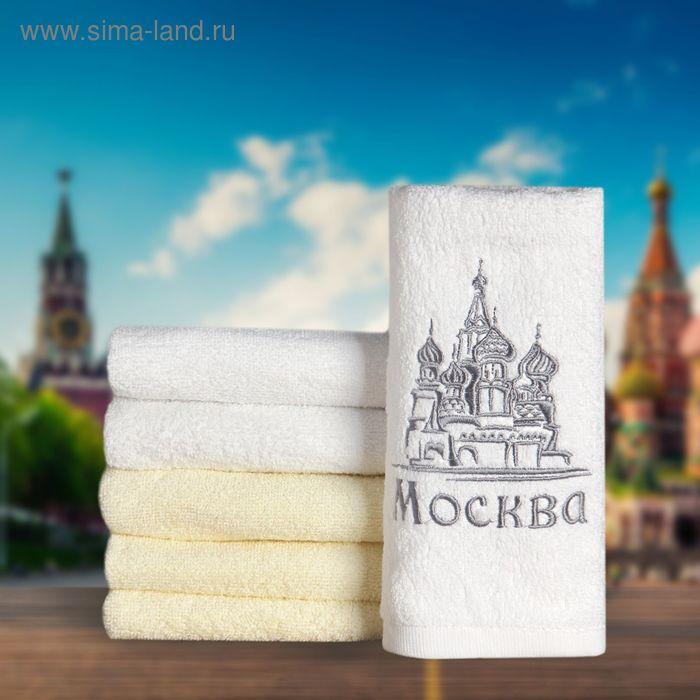 """Полотенце с вышивкой """"Collorista"""" Москва 30х70 см, хлопок 450гр/м2"""