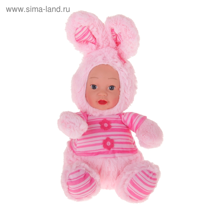 "Мягкая игрушка ""Кукла костюм зайка"" розовый"
