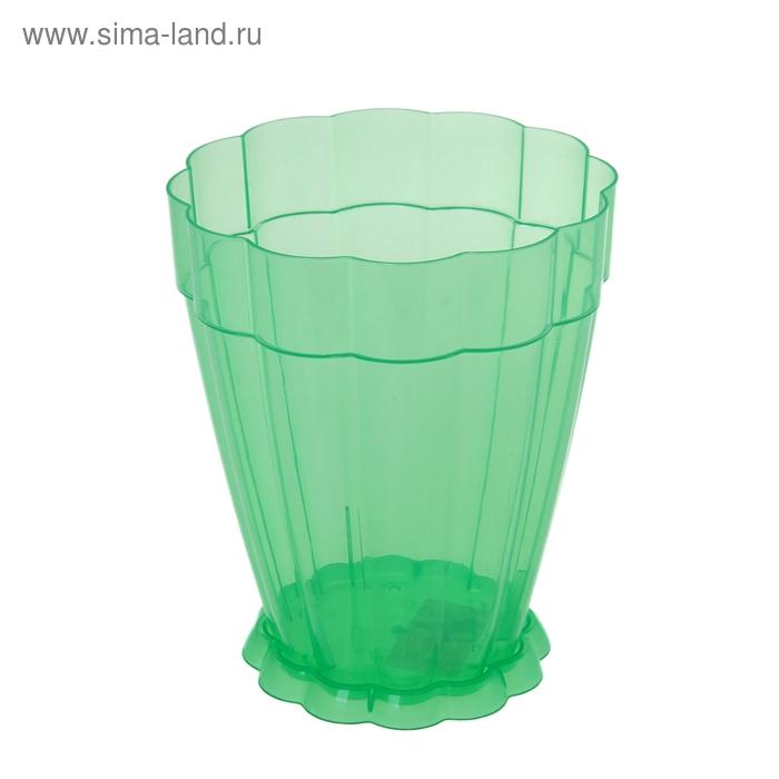 """Горшок для орхидей 1,5 л """"Фантастика"""", поддон, зеленый"""