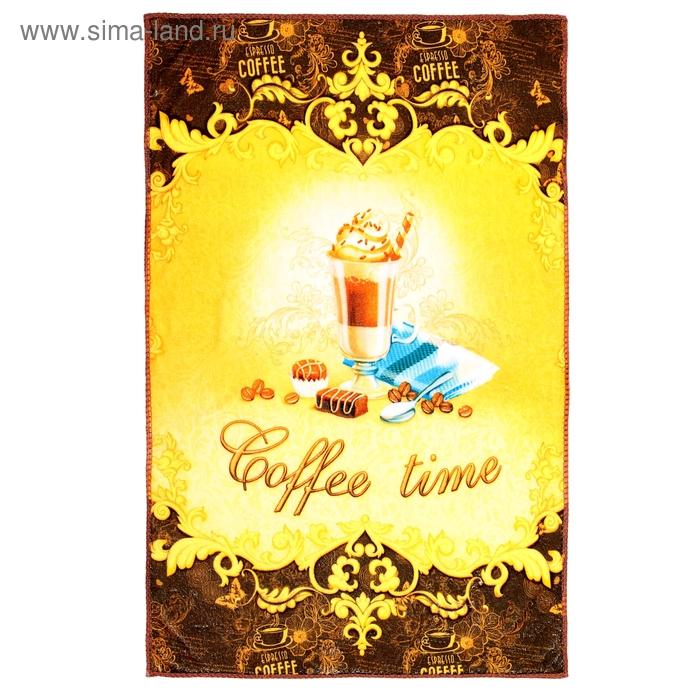 """Полотенце микрофибра """"Collorista"""" Время кофе 40х60 см, 100% п/э, 170 гр/м2"""
