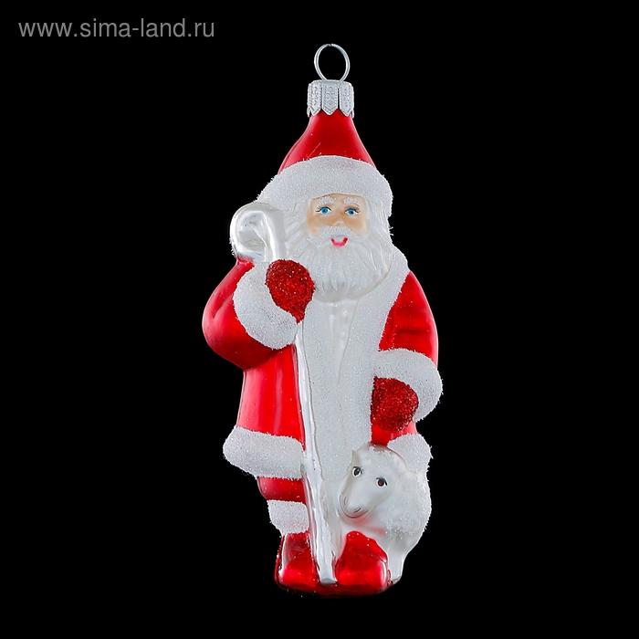 """Игрушка елочная """"Дед Мороз с овечкой"""""""