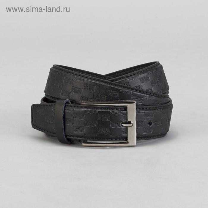 Ремень мужской, шашки, винт, пряжка МИКС, ширина 3,5см, цвет чёрный