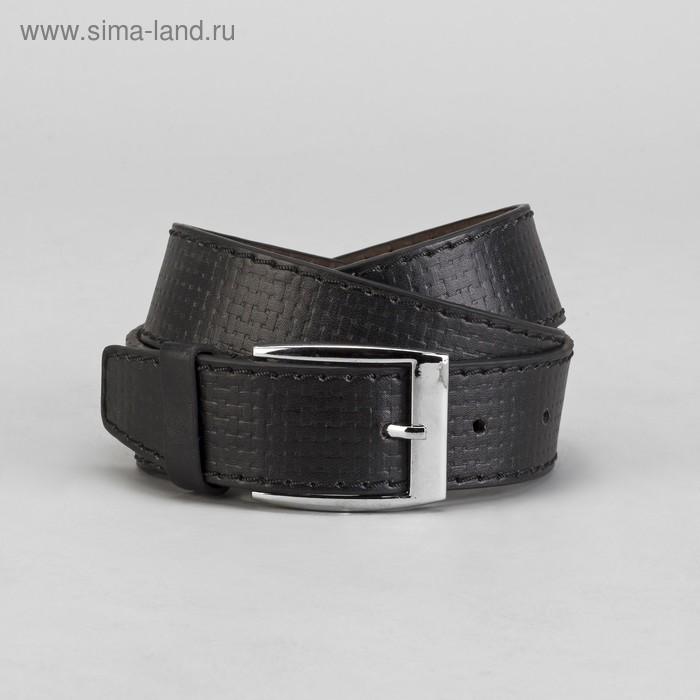 Ремень мужской, винт, пряжка под металл МИКС, ширина - 4см, чёрный