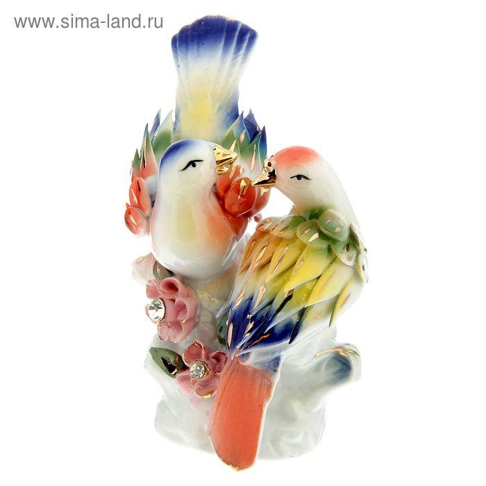 """Нэцкэ """"Две птицы с цветами"""" под фарфор"""