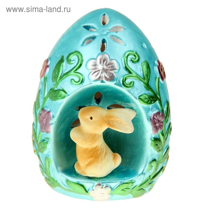 """Сувенир световой """"Яйцо с зайкой"""" под фарфор, МИКС"""