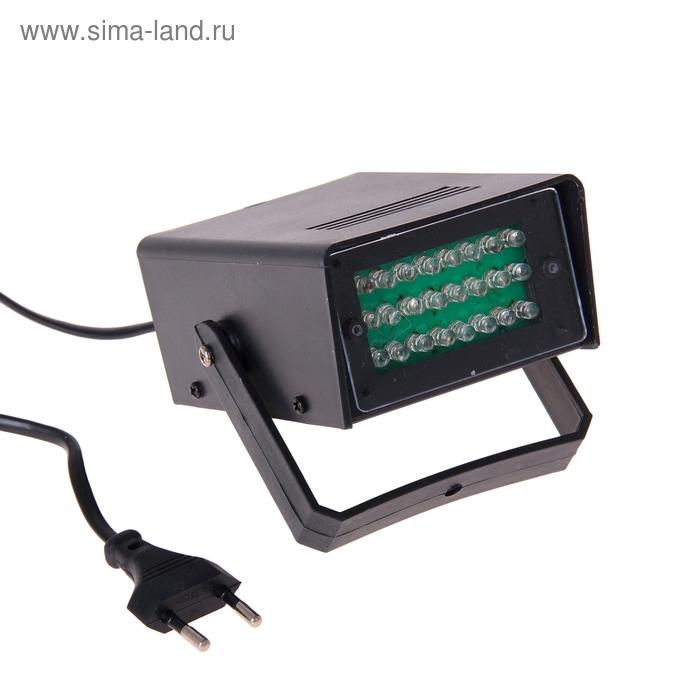 Световой прибор стробоскоп LED V220 КРАСНЫЙ