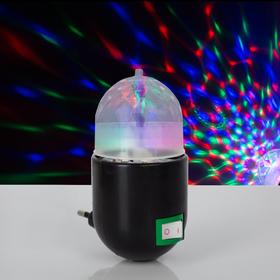 Лампа-ночник хрустальный шар МИКС., 220V Ош