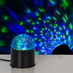 Световой прибор хрустальный шар диаметр 7,5 см V220 ЧЕРНЫЙ Ош