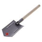 Лопата комбинированная, автомобильная, складная, деревянный черенок