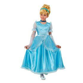 Детский карнавальный костюм 'Принцесса Золушка', р-р 34, рост 128 см Ош