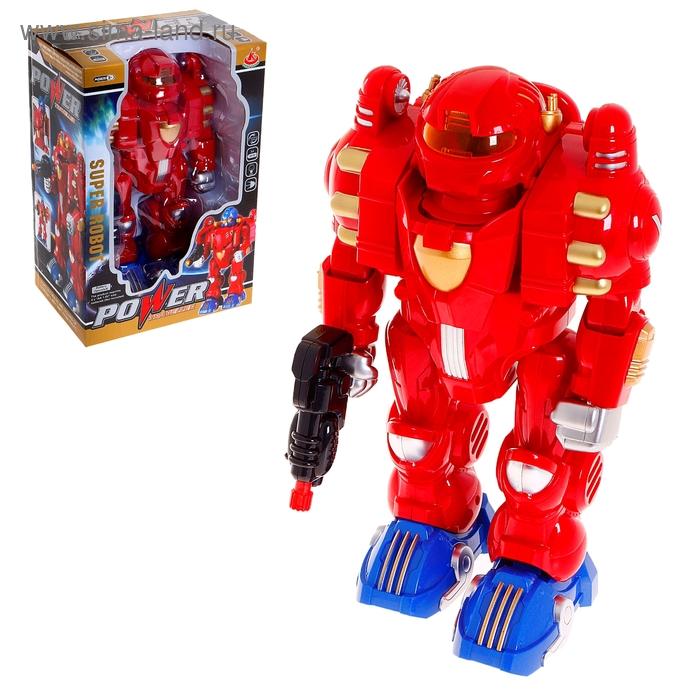 """Робот """"Стражник"""", работает от батареек, световые и звуковые эффекты, МИКС"""